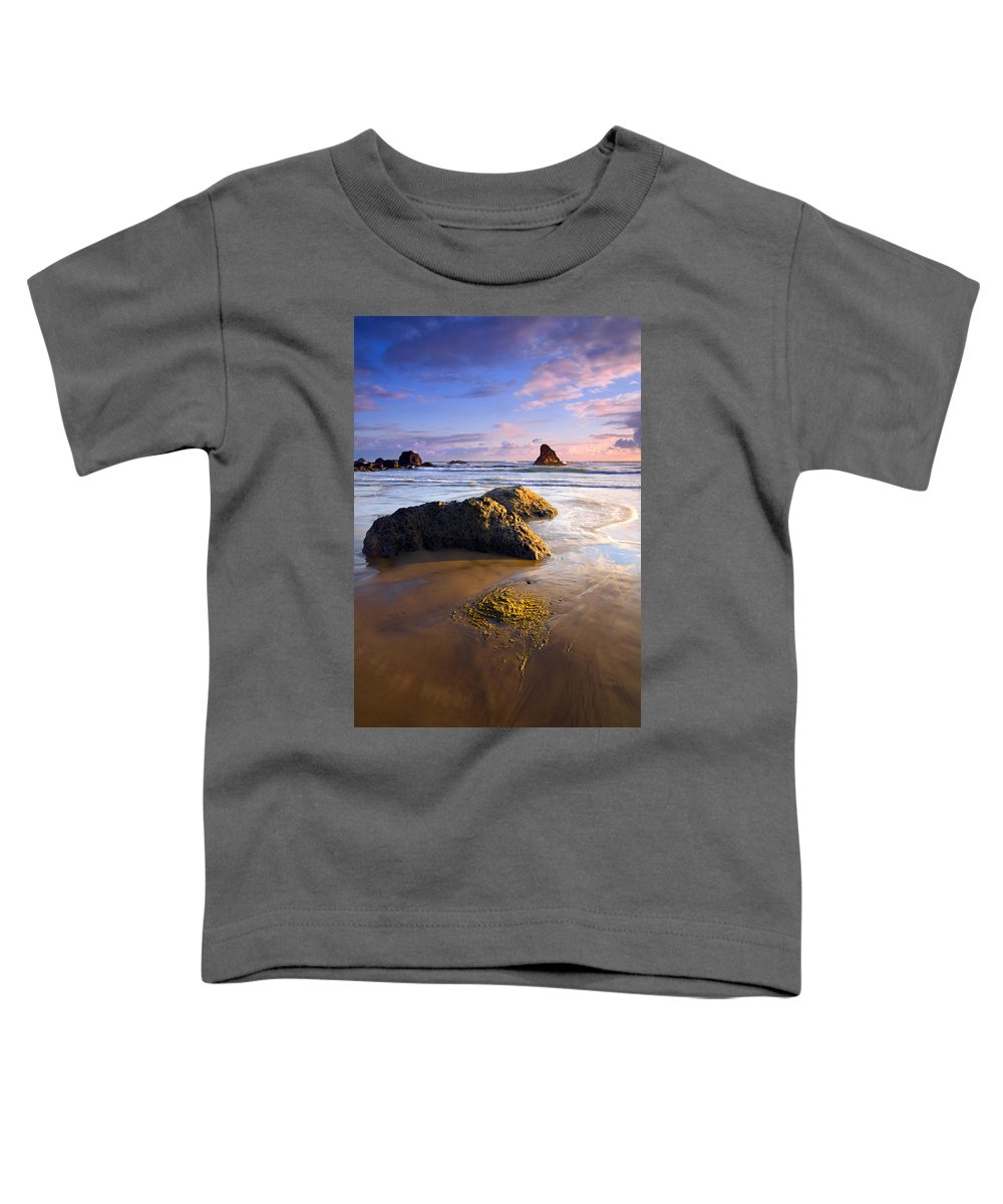 Beach Toddler T-Shirt featuring the photograph Golden Coast by Mike Dawson