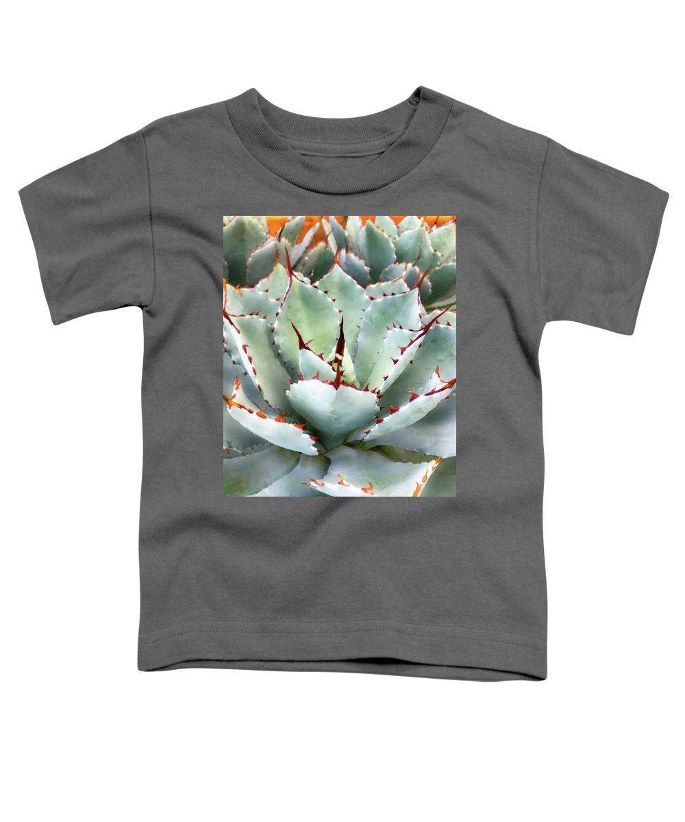 Agave Toddler T-Shirt featuring the mixed media Golden Hour by Veronika Countryman