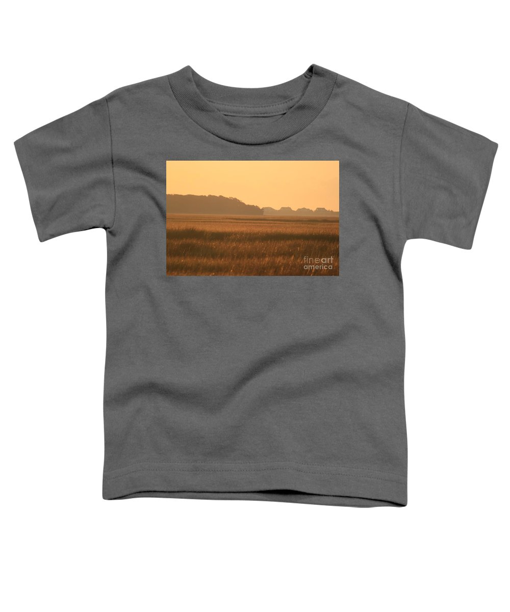 Marsh Toddler T-Shirt featuring the photograph Golden Marshes by Nadine Rippelmeyer