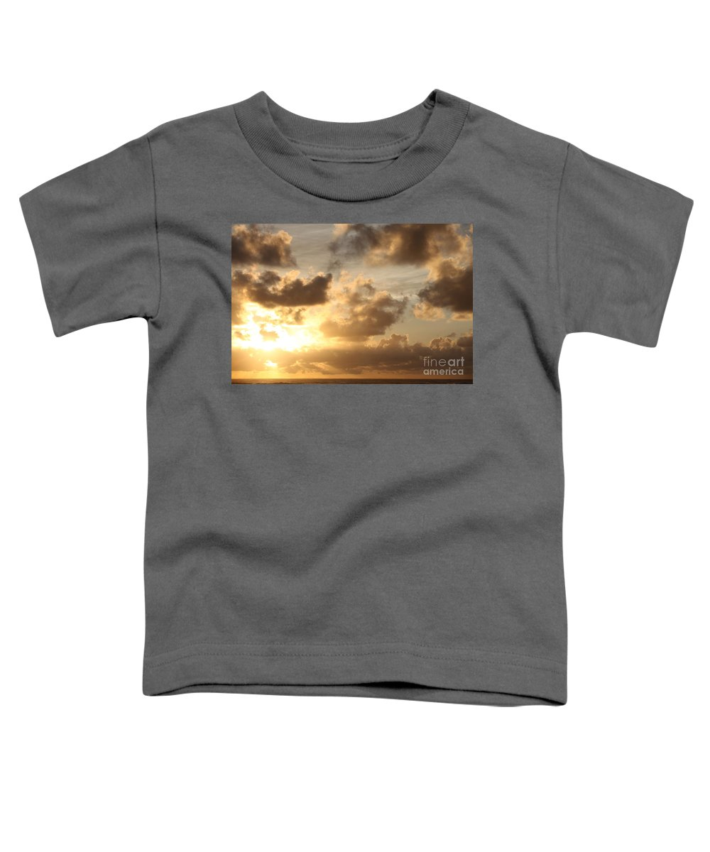 Sunrise Toddler T-Shirt featuring the photograph Golden Sunrise On Kauai by Nadine Rippelmeyer