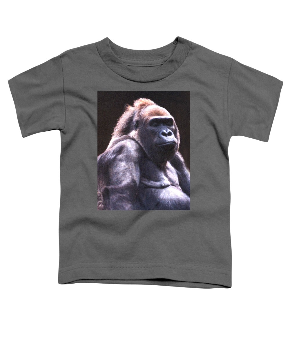 Gorilla Toddler T-Shirt featuring the photograph Gorilla by Steve Karol