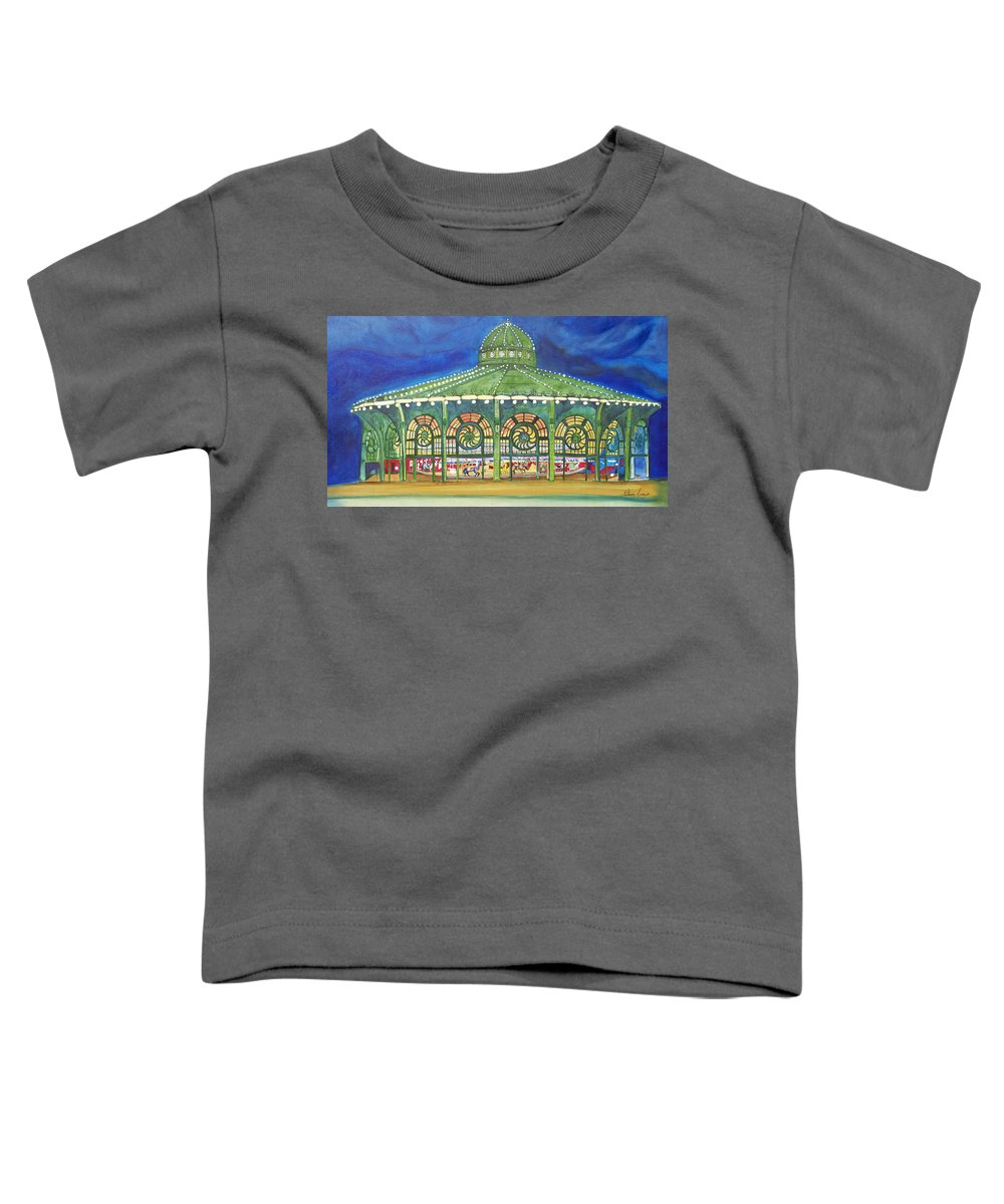 Night Paintings Of Asbury Park Toddler T-Shirt featuring the painting Grasping The Memories by Patricia Arroyo