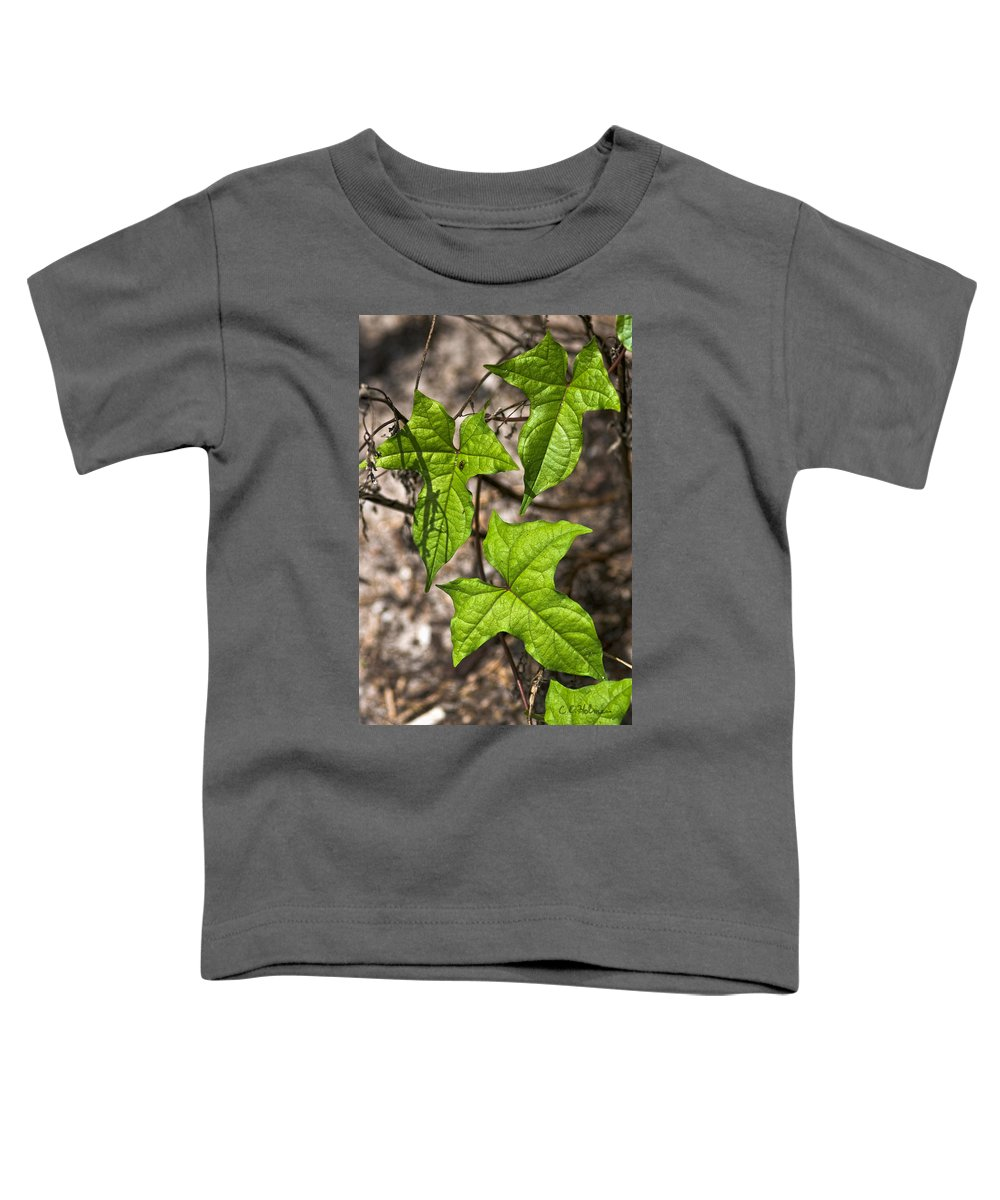 Green Toddler T-Shirt featuring the photograph Green Arrowheads by Christopher Holmes