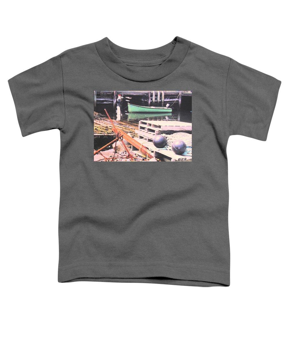 Green Toddler T-Shirt featuring the photograph Green Boat by Ian MacDonald