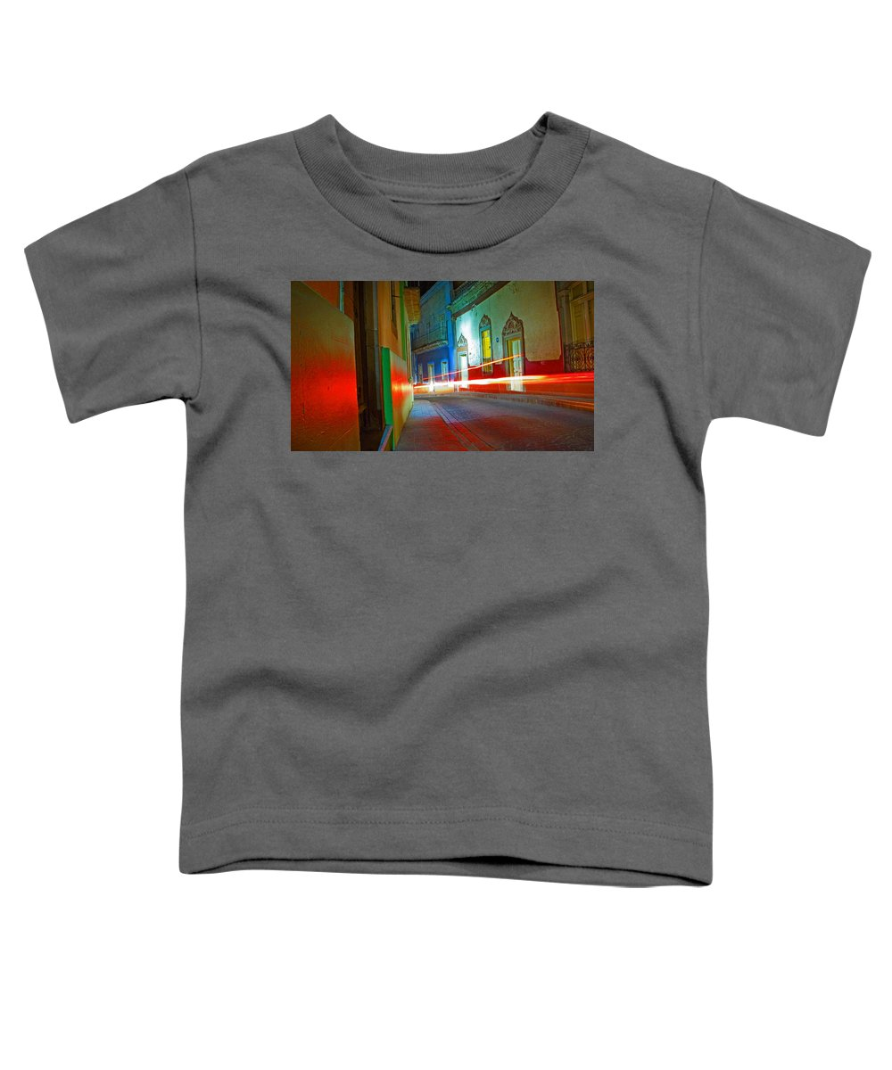 Shadow Toddler T-Shirt featuring the photograph Guanajuato Night by Skip Hunt