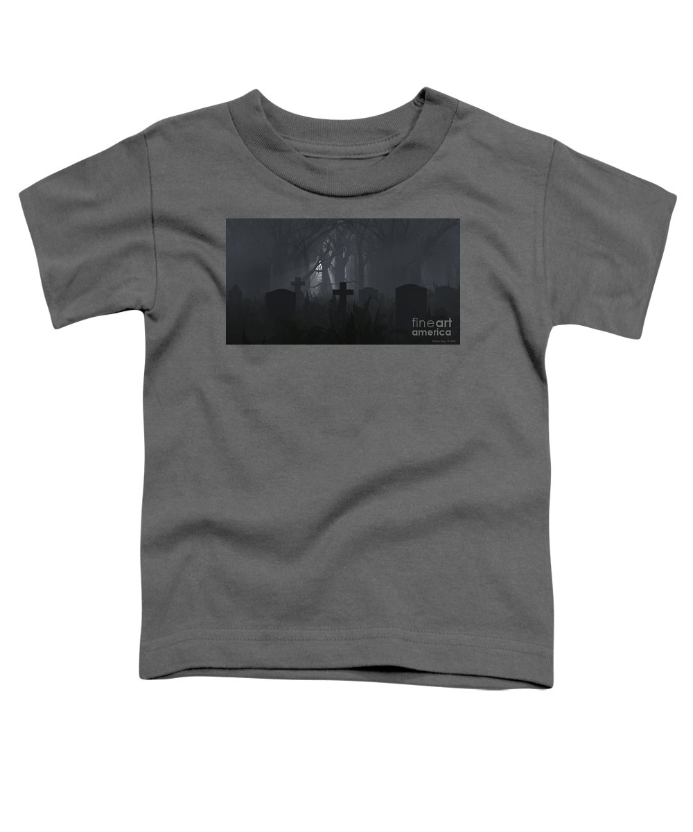 Death Toddler T-Shirt featuring the digital art Guiding Light by Richard Rizzo