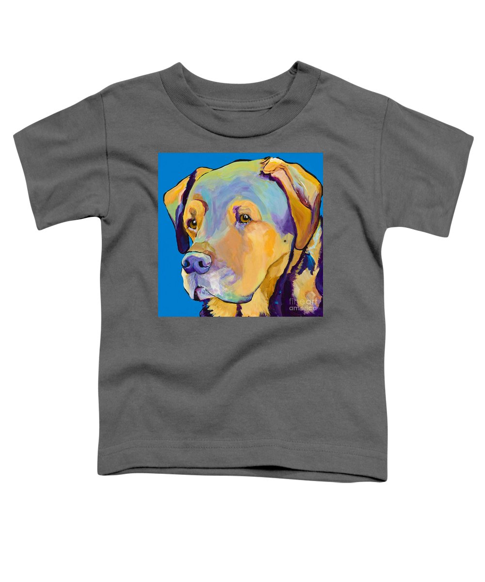 Dog Portrait Toddler T-Shirt featuring the painting Gunner by Pat Saunders-White