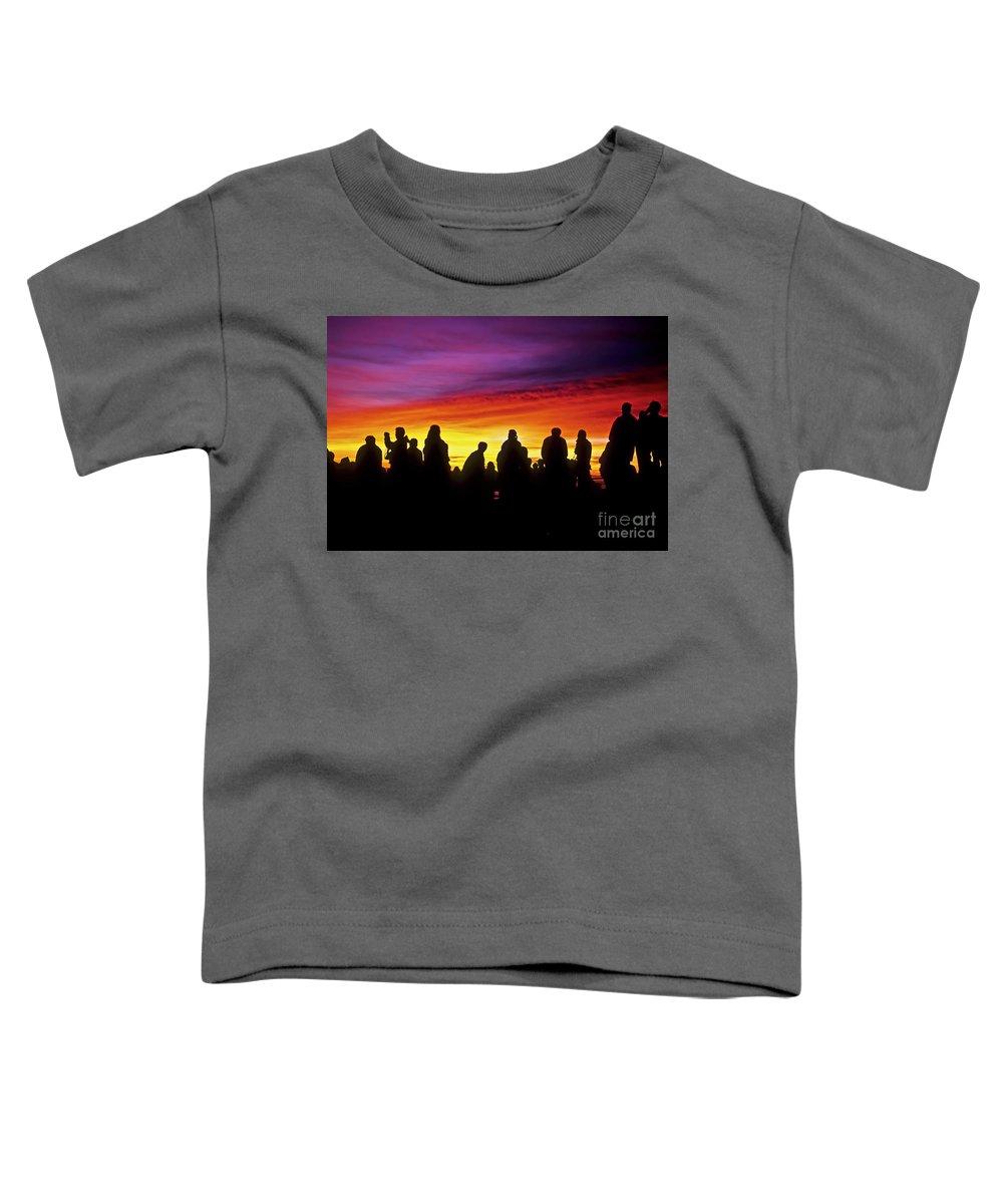 Haleakala Sunrise Toddler T-Shirt featuring the photograph Haleakala Color Show by Jim Cazel