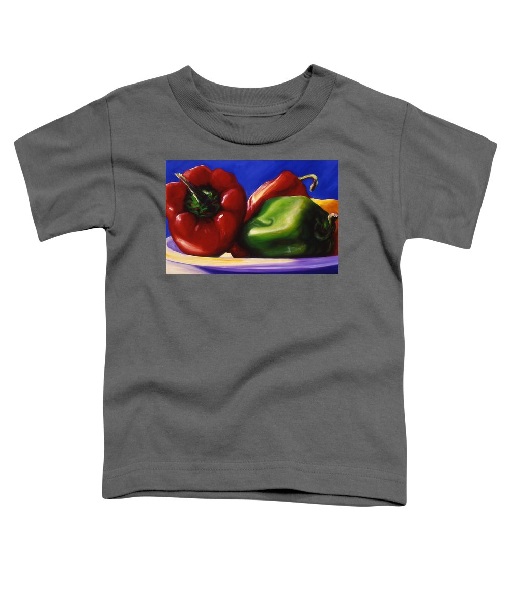 Still Life Toddler T-Shirt featuring the painting Harvest Festival Peppers by Shannon Grissom