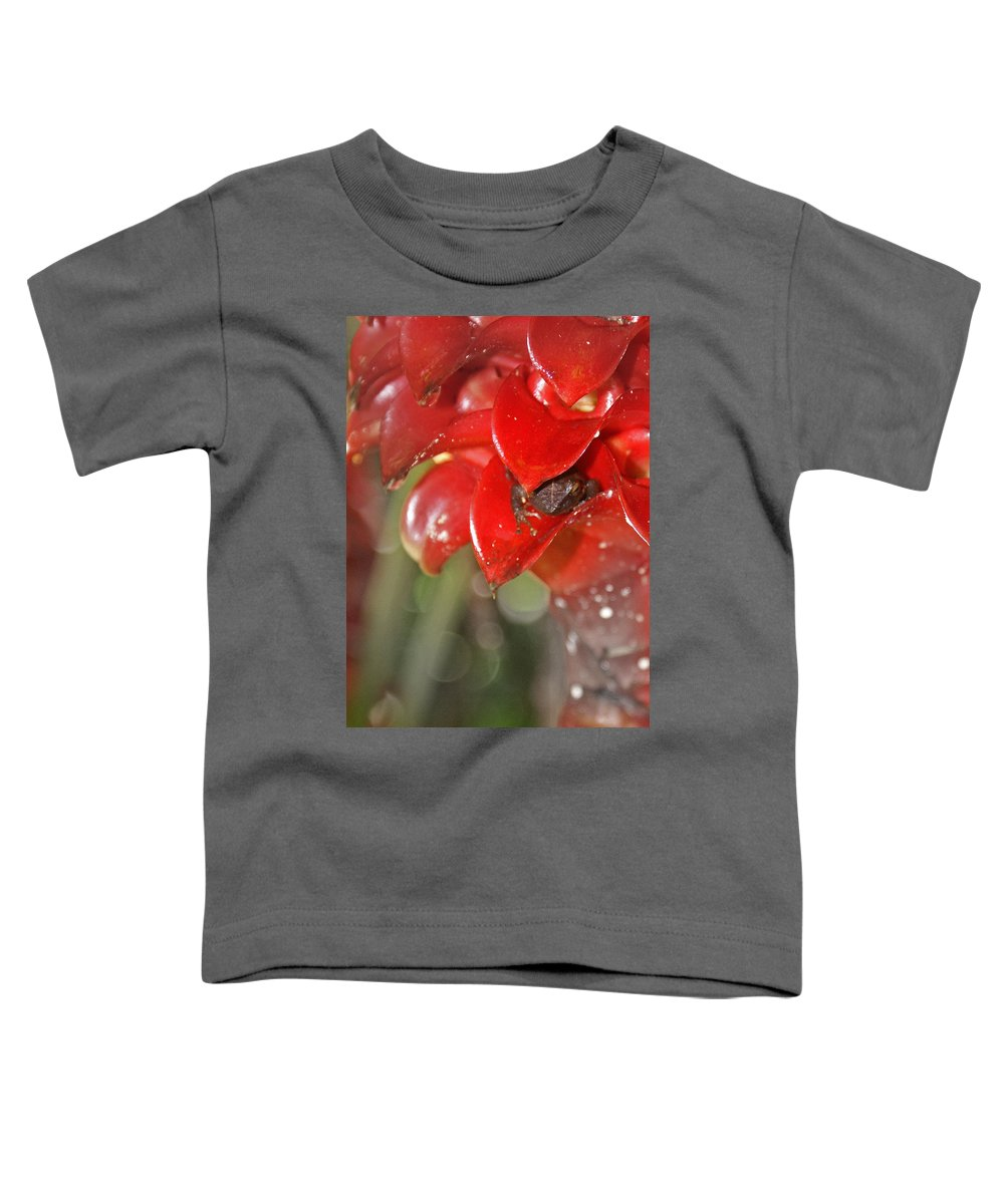 Frog Toddler T-Shirt featuring the digital art Hawaiian Frog by Heather Coen