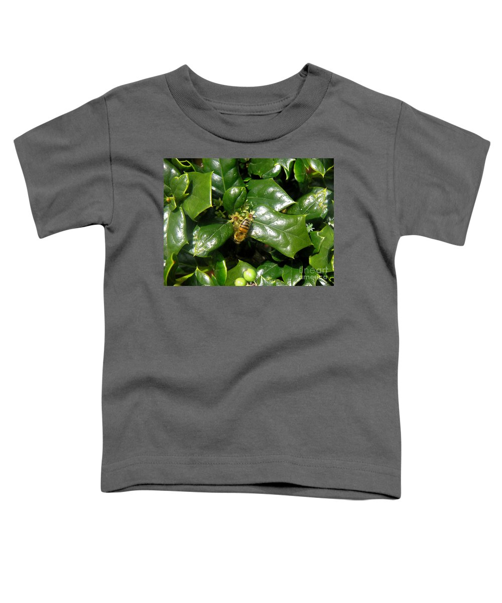 Nature Toddler T-Shirt featuring the photograph Head Over Heels In The Holly by Lucyna A M Green
