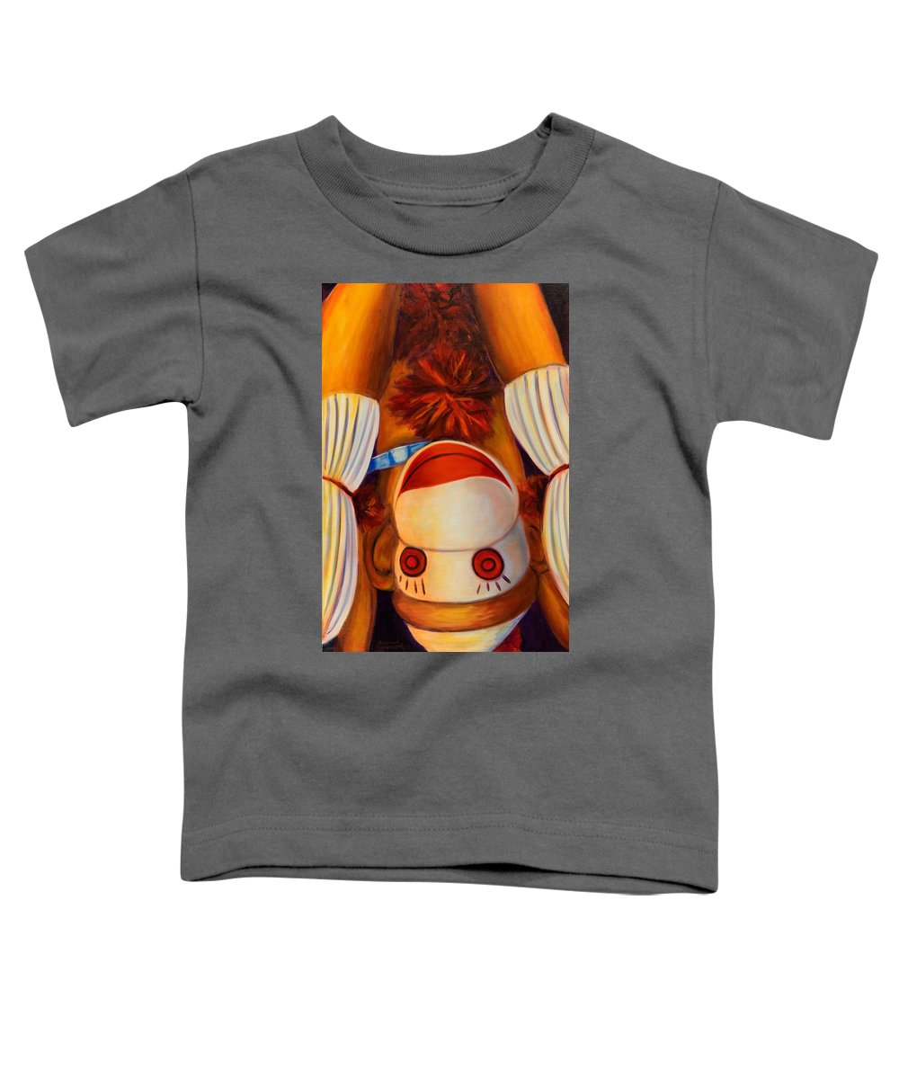 Children Toddler T-Shirt featuring the painting Head-over-heels by Shannon Grissom