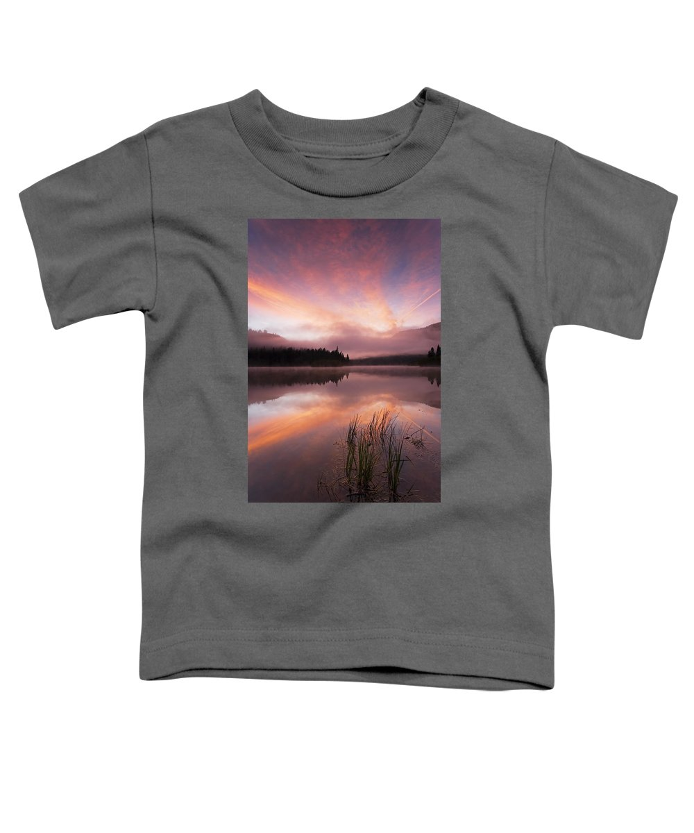 Sunrise Toddler T-Shirt featuring the photograph Heavenly Skies by Mike Dawson