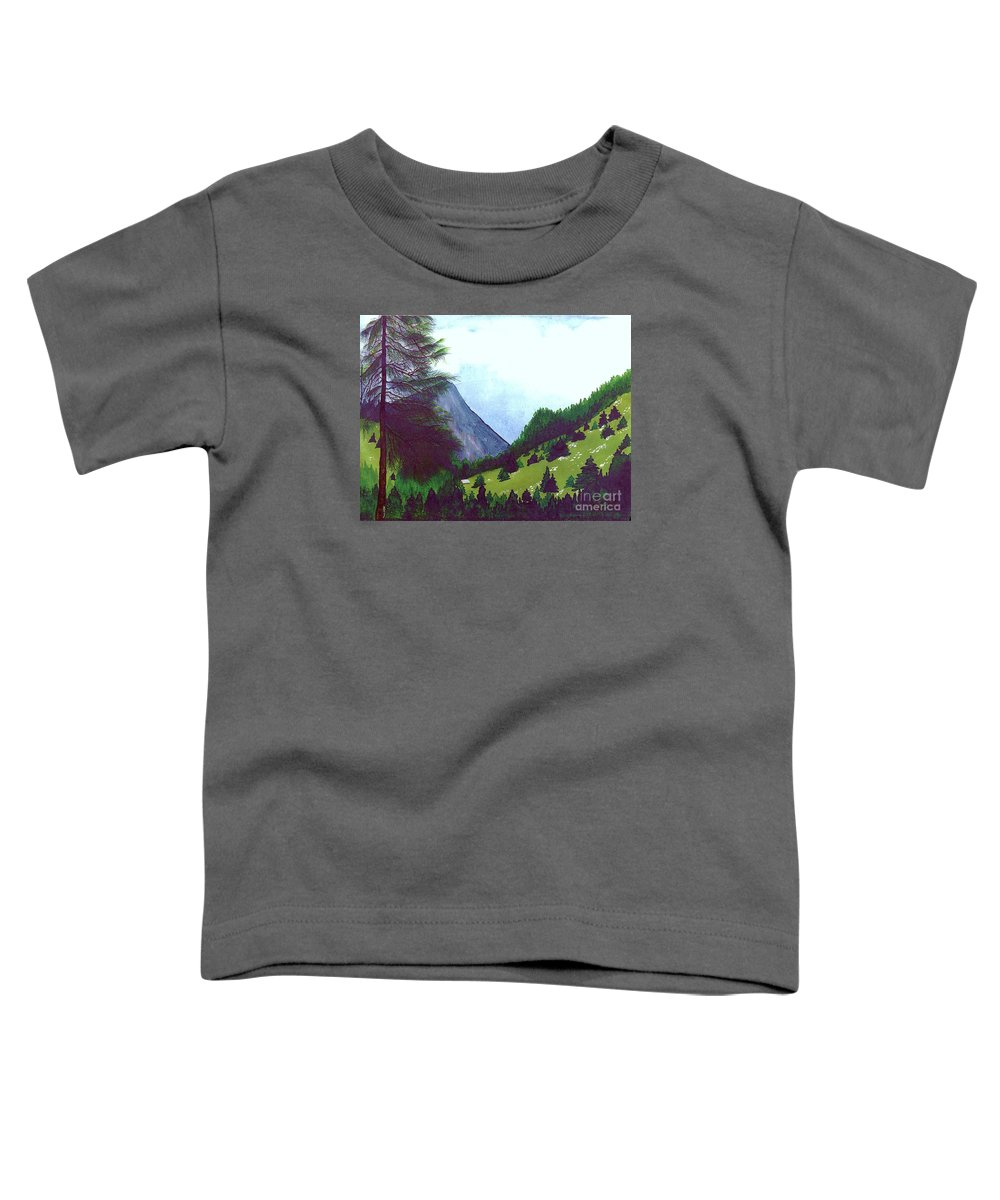 Original Painting Toddler T-Shirt featuring the painting Heidi's Place by Patricia Griffin Brett