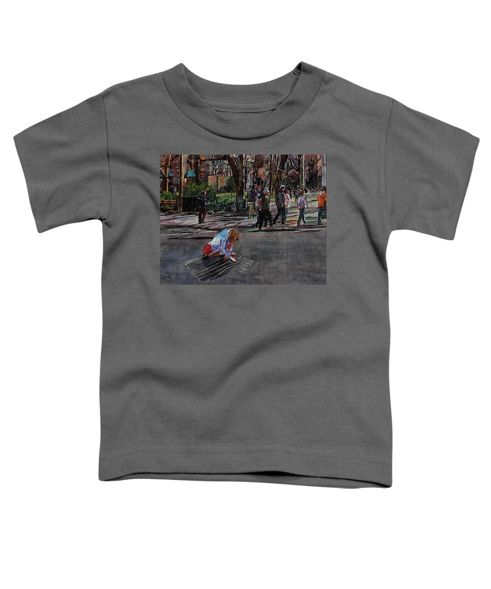Political Toddler T-Shirt featuring the painting Help by Valerie Patterson