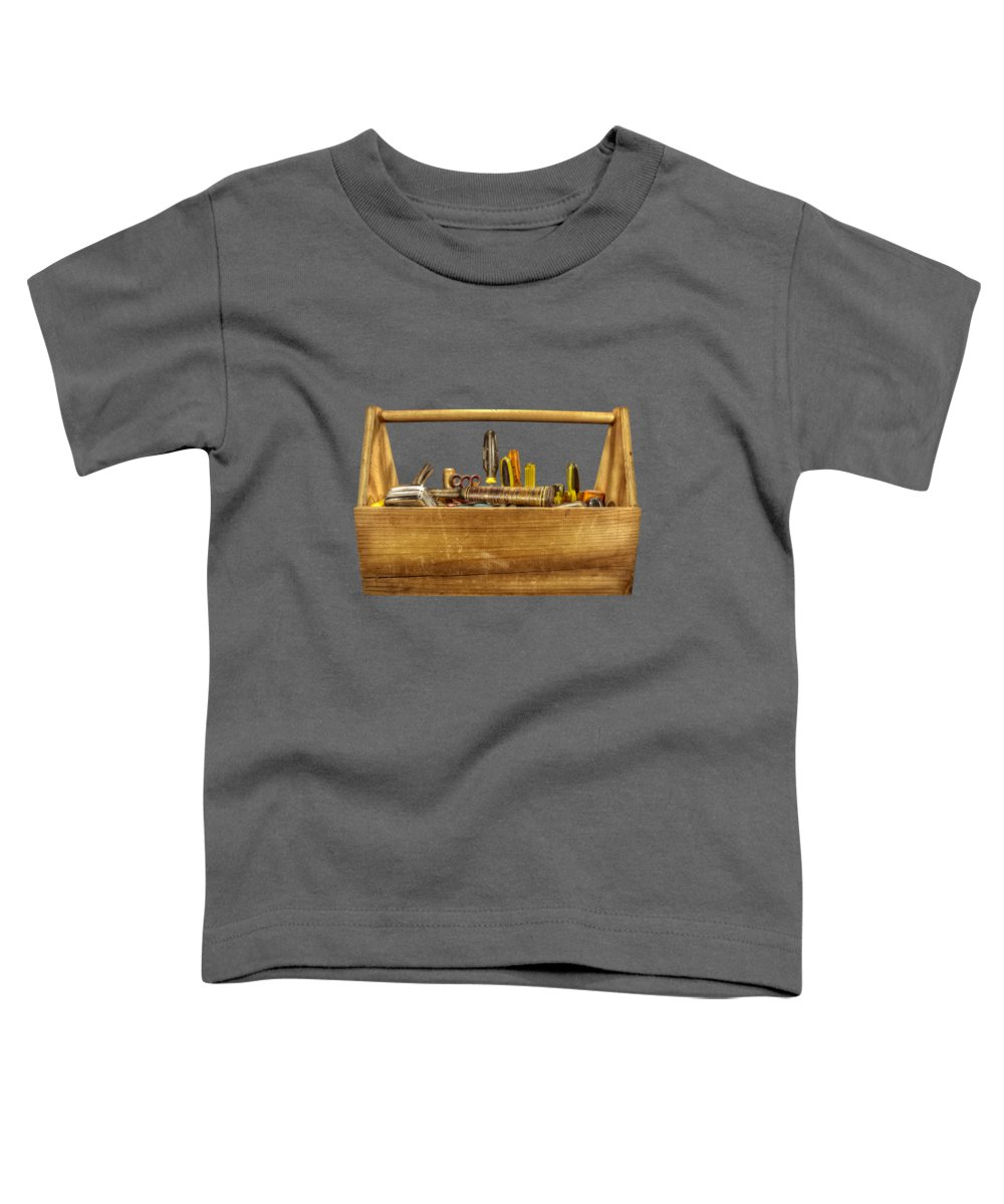 Box Toddler T-Shirt featuring the photograph Henry's Toolbox by YoPedro