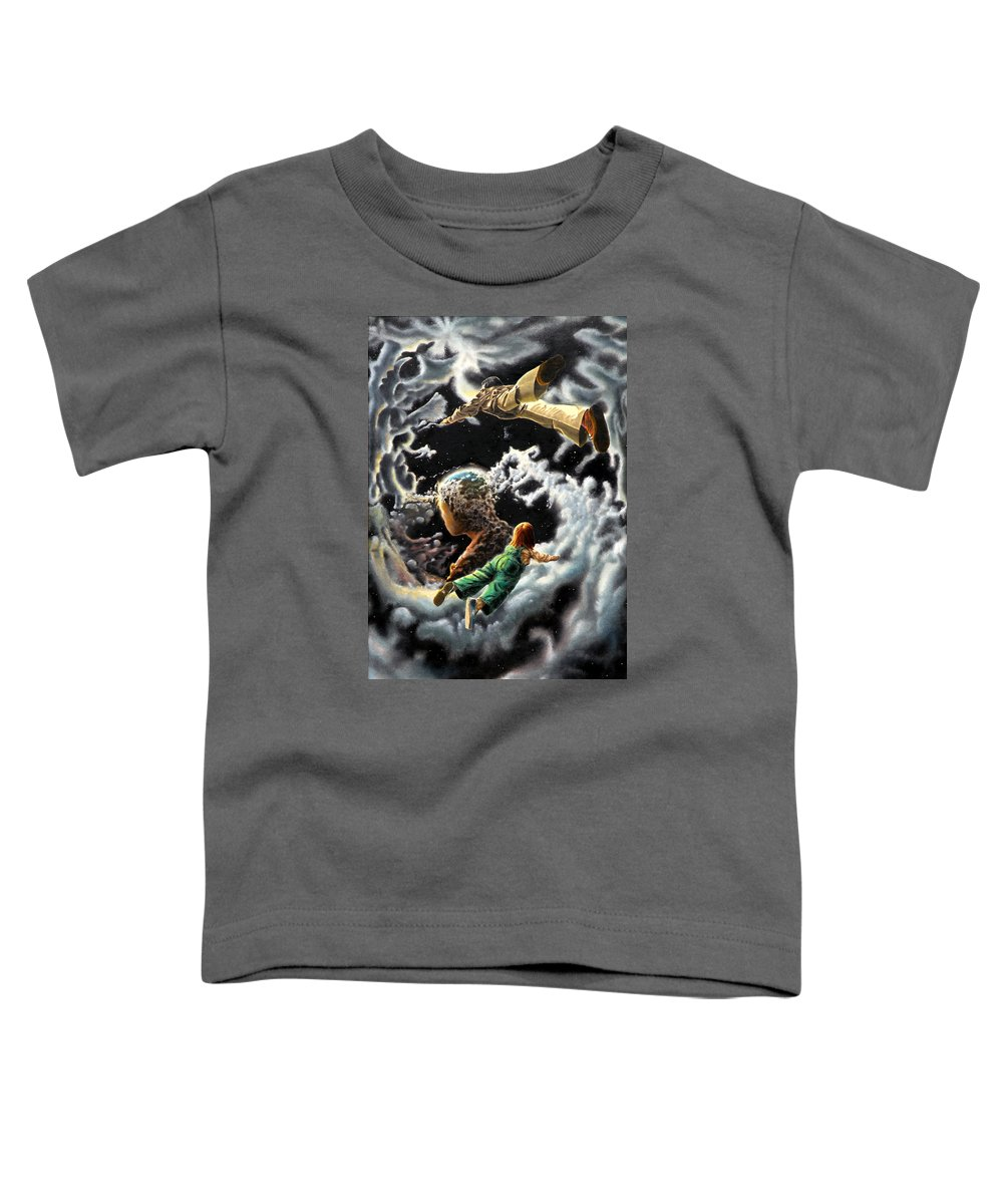 Fantasy Toddler T-Shirt featuring the painting Homecoming by Dave Martsolf