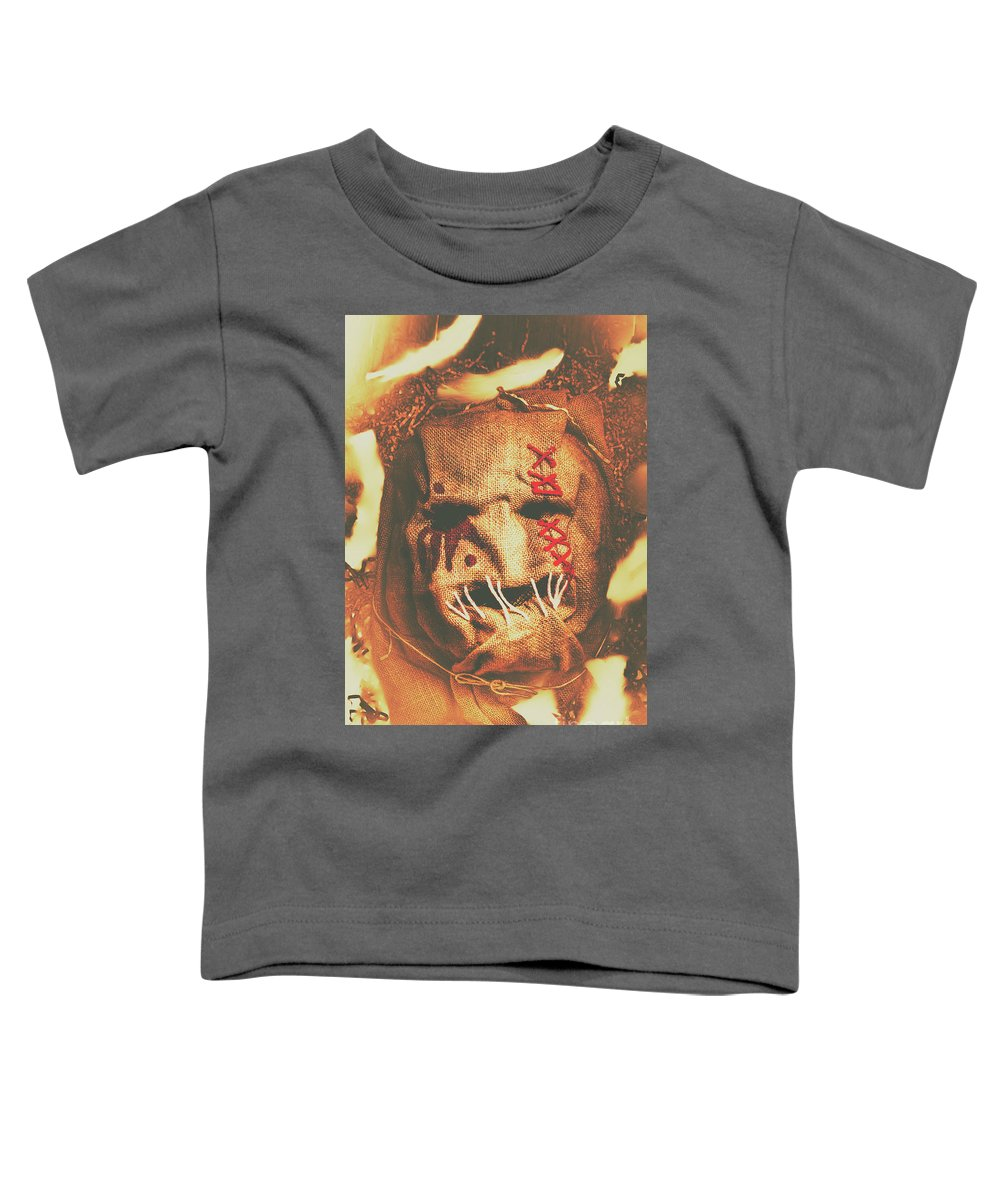 Scarecrow Toddler T-Shirt featuring the photograph Horror Scarecrow Portrait by Jorgo Photography - Wall Art Gallery
