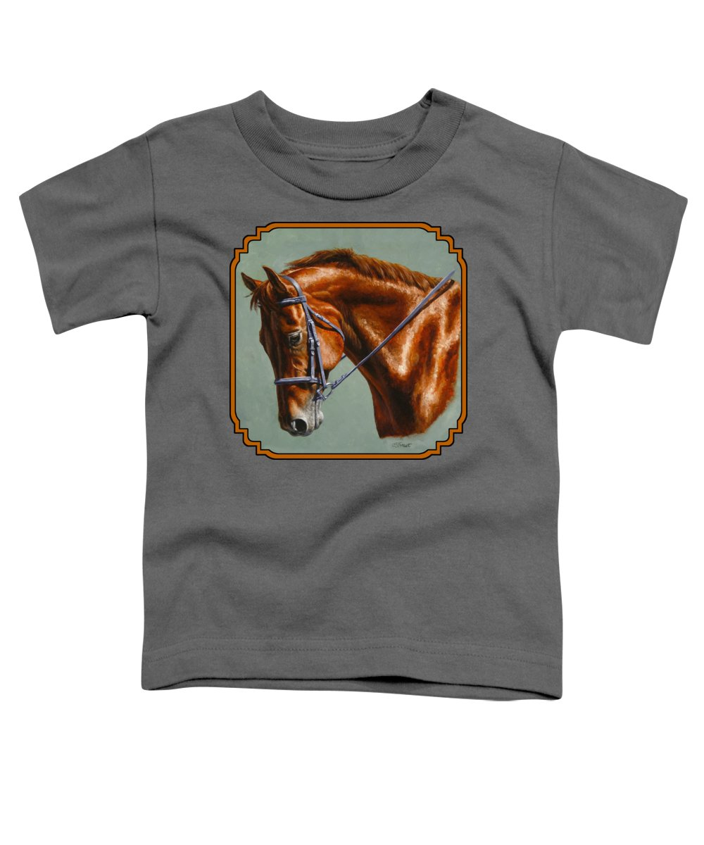 Horse Toddler T-Shirt featuring the painting Horse Painting - Focus by Crista Forest