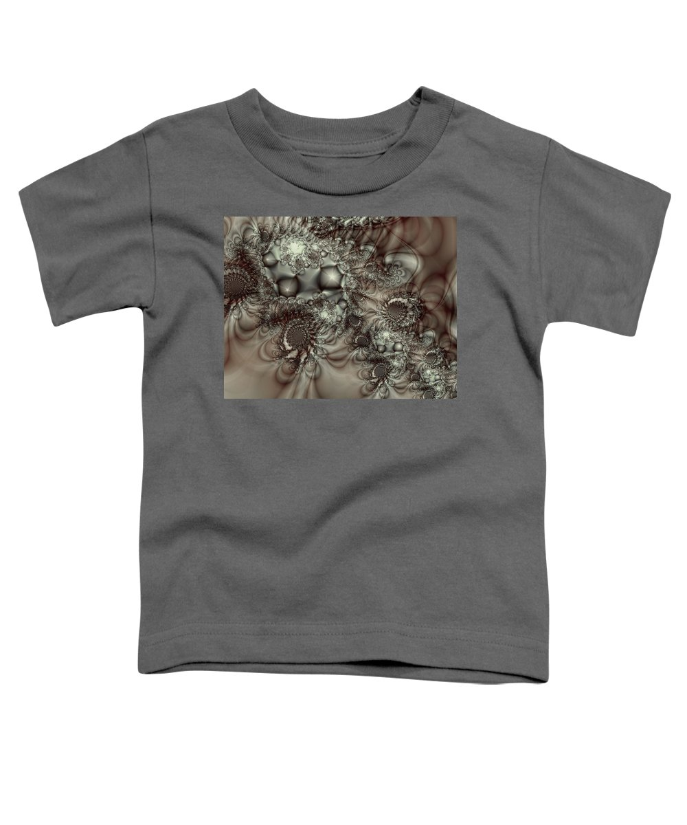 Green Toddler T-Shirt featuring the digital art Hot Chocolate Possibilities by Casey Kotas