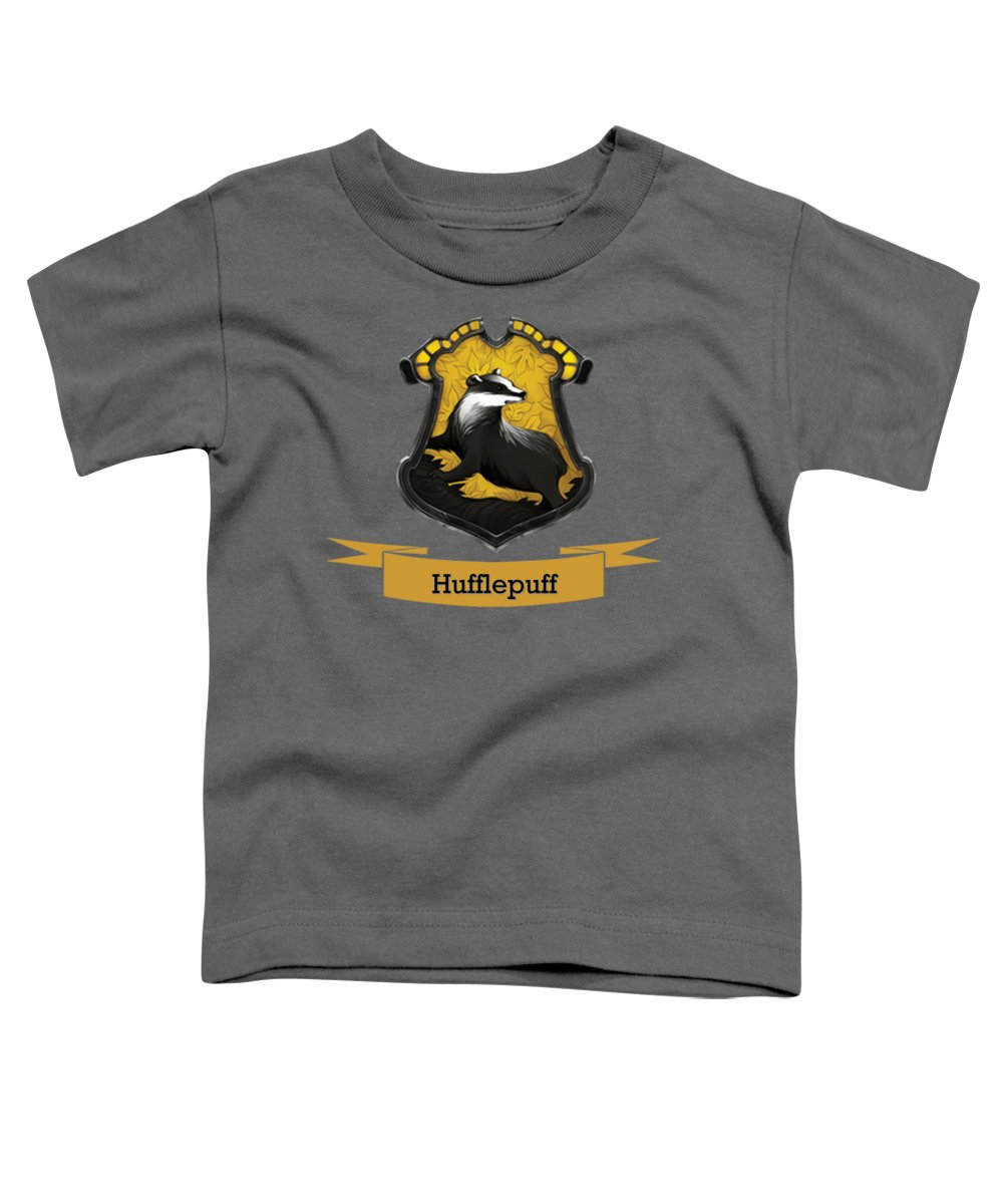 Gryffindor Toddler T-Shirt featuring the digital art Hufflepuff by Atkins Allen