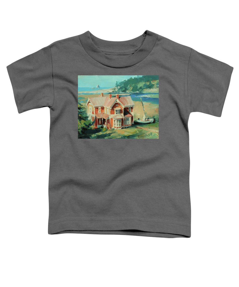 Coast Toddler T-Shirt featuring the painting Hughes House by Steve Henderson