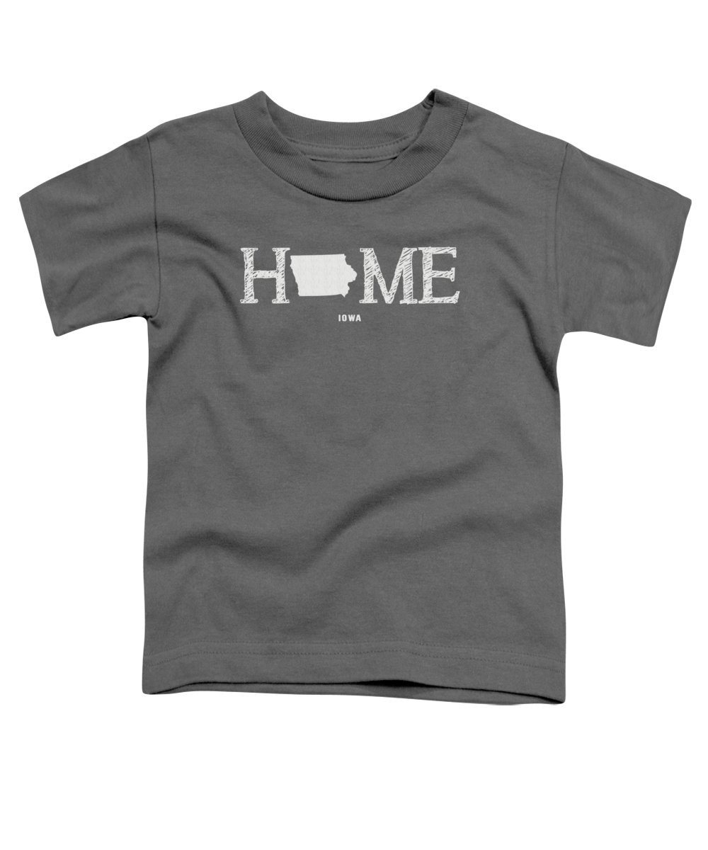 Iowa Toddler T-Shirt featuring the mixed media Ia Home by Nancy Ingersoll