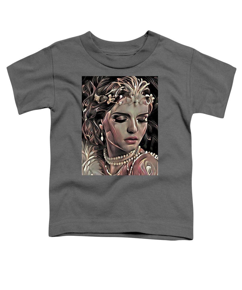 Modern Toddler T-Shirt featuring the mixed media If Only by G Berry