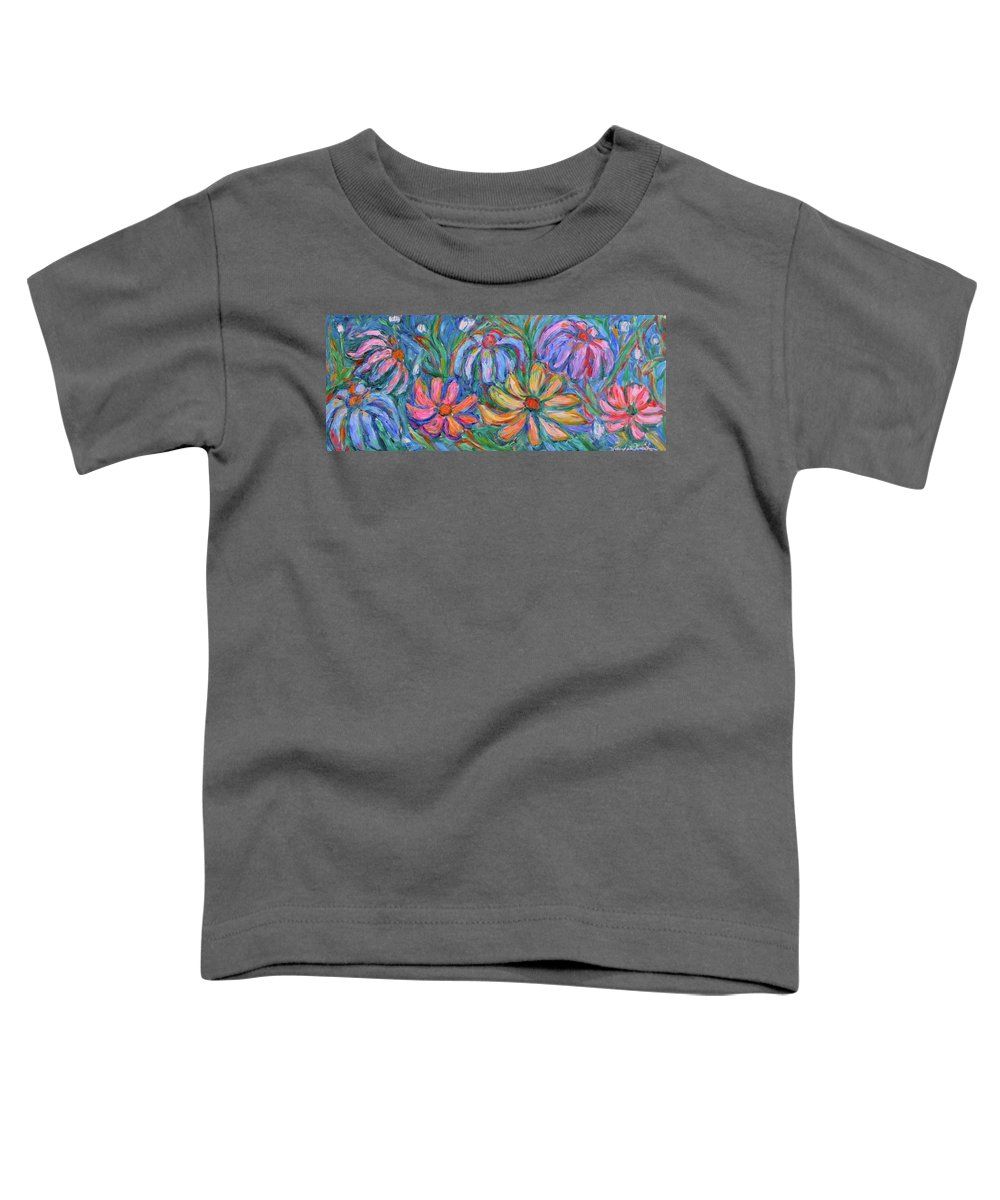 Flowers Toddler T-Shirt featuring the painting Imaginary Flowers by Kendall Kessler