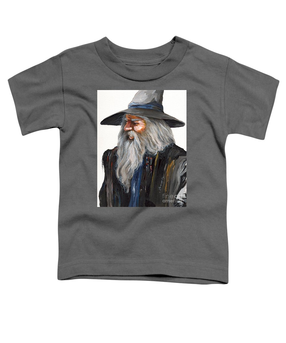 Fantasy Art Toddler T-Shirt featuring the painting Impressionist Wizard by J W Baker
