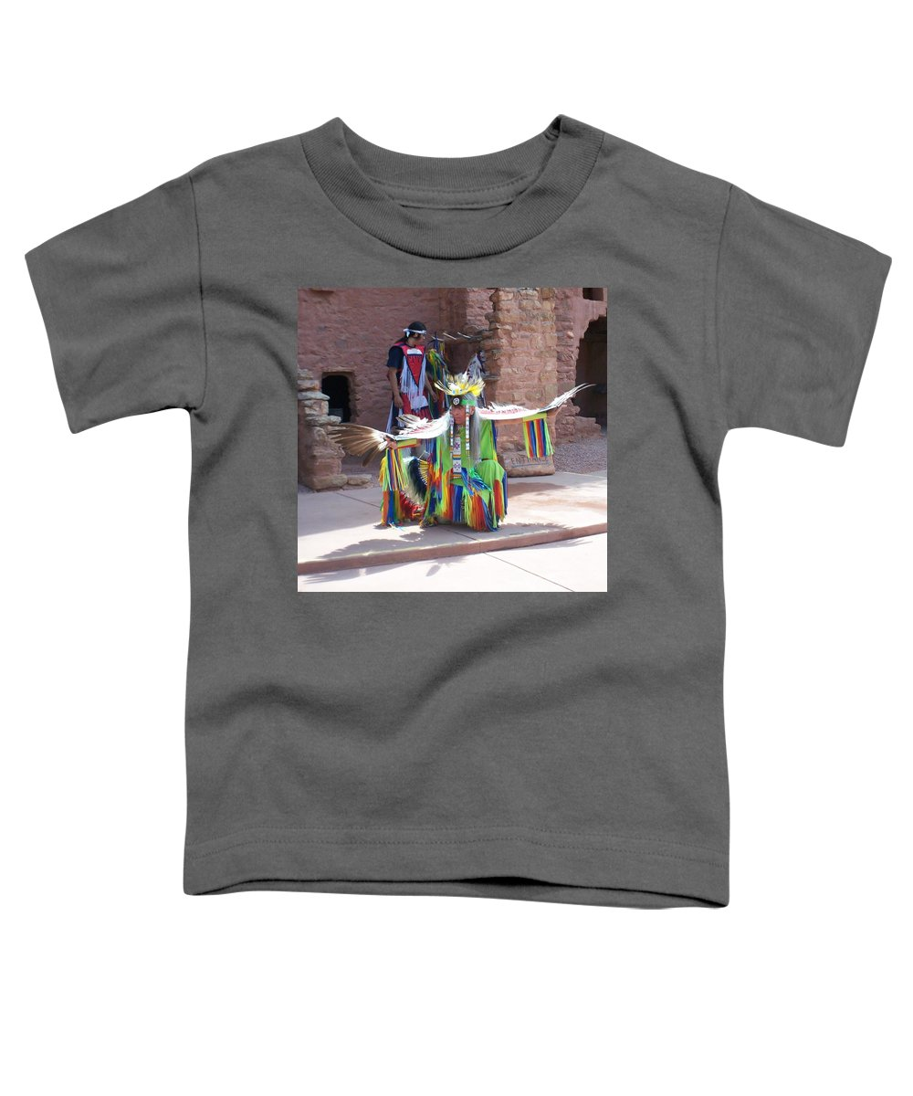 Indian Dancer Toddler T-Shirt featuring the photograph Indian Dancer by Anita Burgermeister