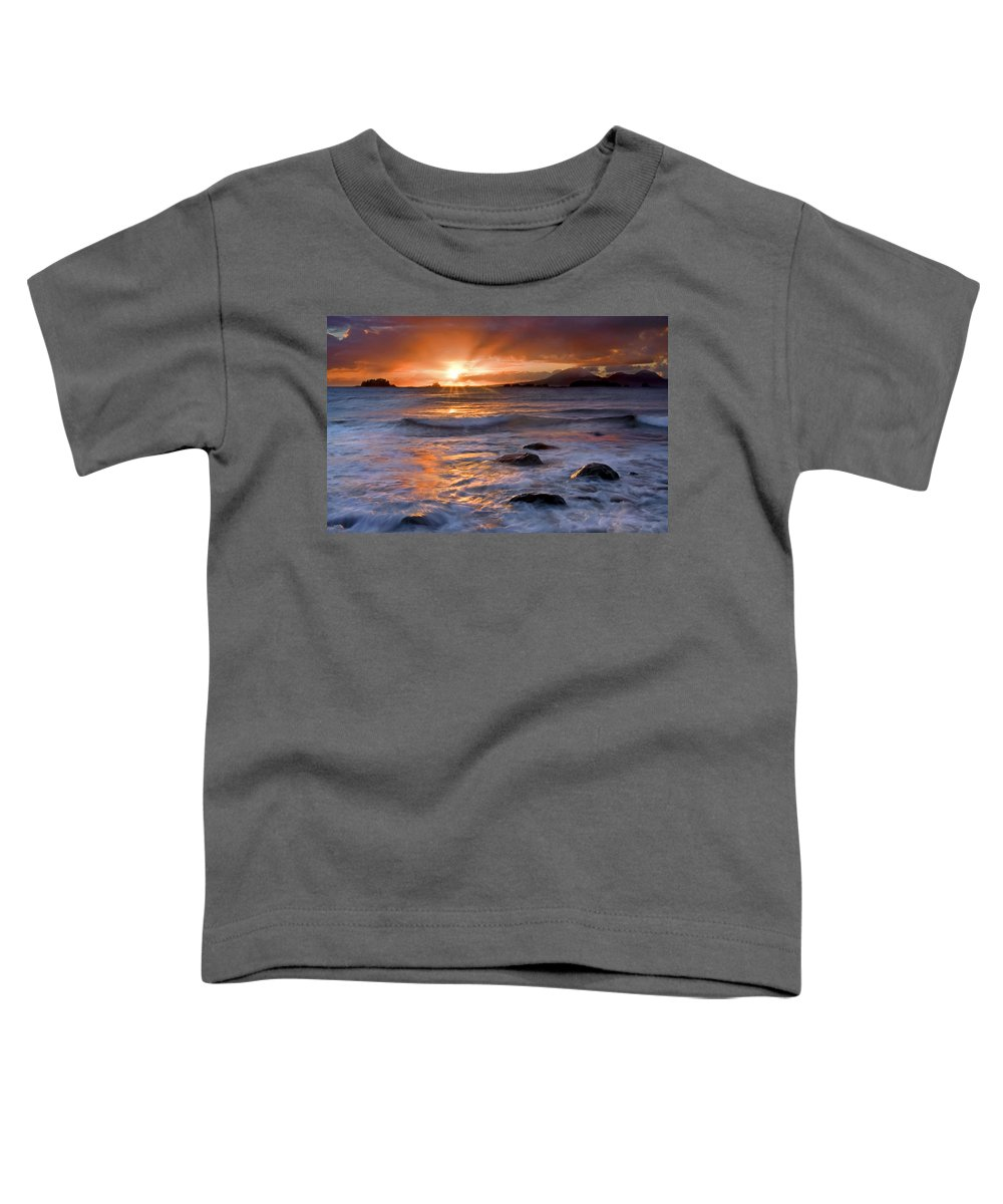 Alaska Toddler T-Shirt featuring the photograph Inspired Light by Mike Dawson