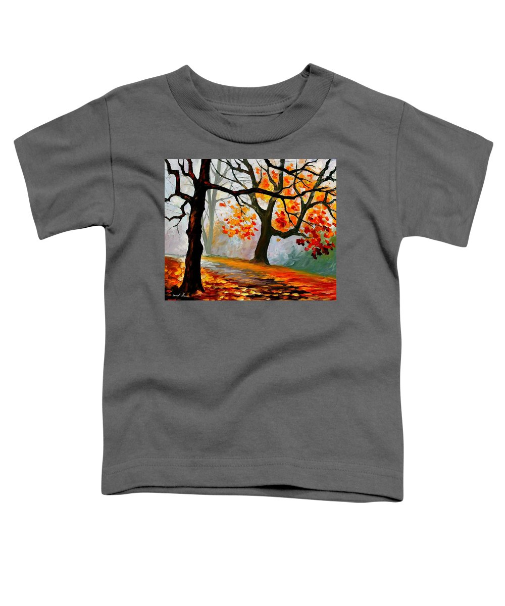 Landscape Toddler T-Shirt featuring the painting Interplacement by Leonid Afremov
