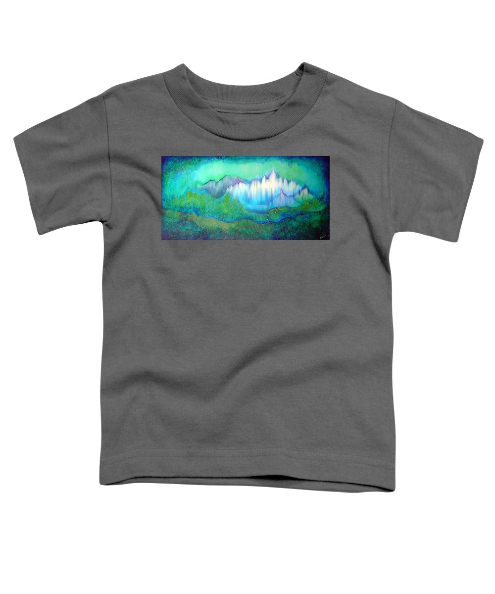 Blue Toddler T-Shirt featuring the painting Into The Ocean by Shadia Derbyshire