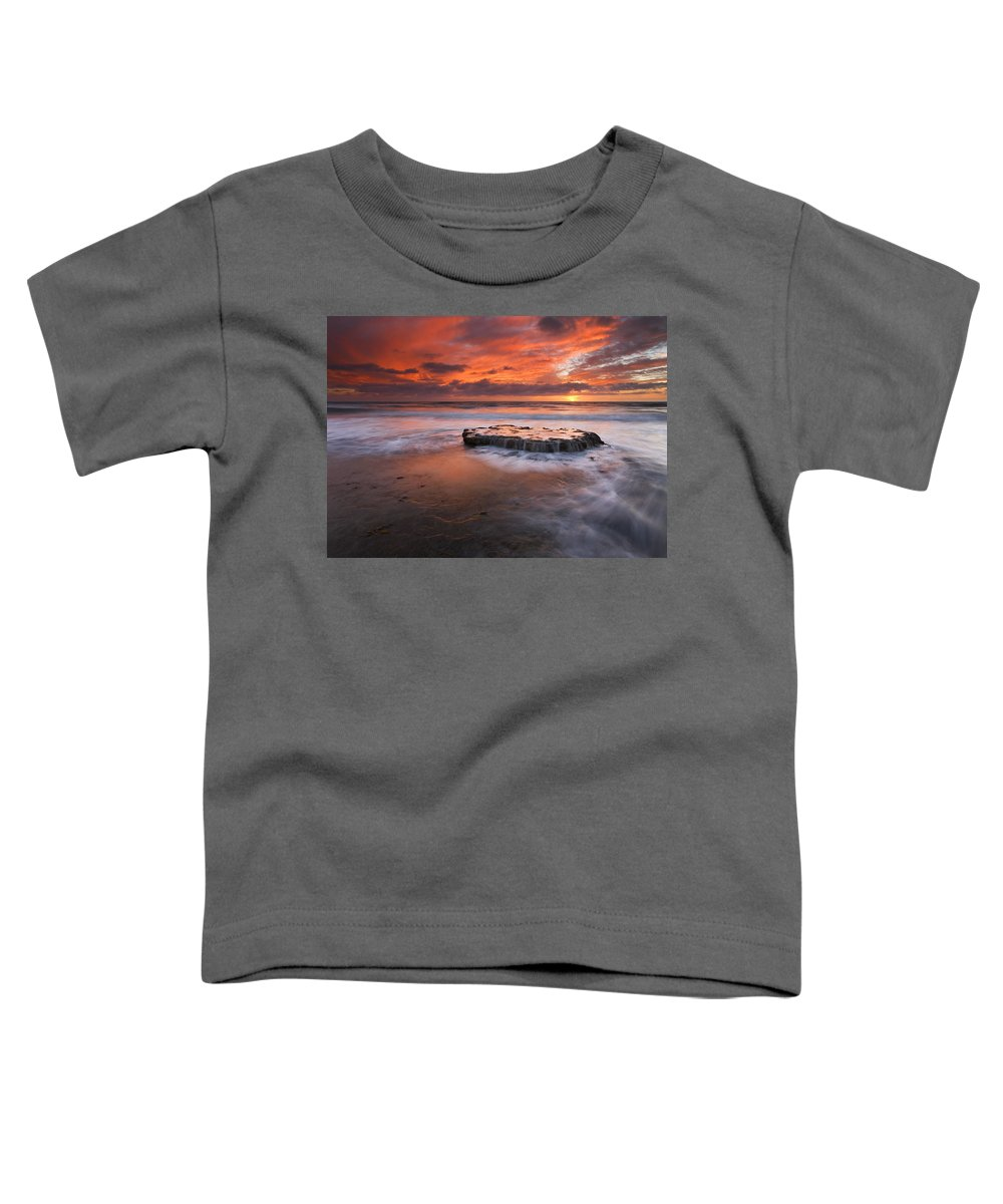 Island Toddler T-Shirt featuring the photograph Island In The Storm by Mike Dawson