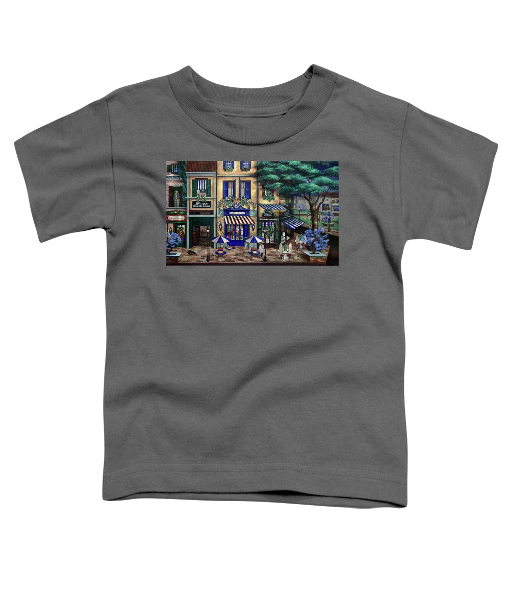 Italian Toddler T-Shirt featuring the mixed media Italian Cafe by Curtiss Shaffer