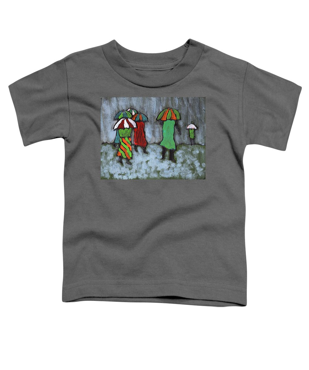 Etnic Toddler T-Shirt featuring the painting It's Raining It's Pouring by Wayne Potrafka