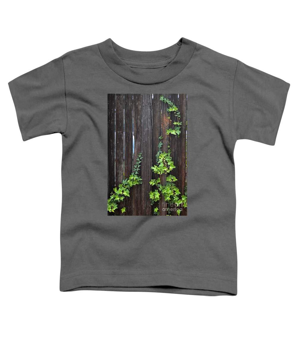Clay Toddler T-Shirt featuring the photograph Ivy On Fence by Clayton Bruster