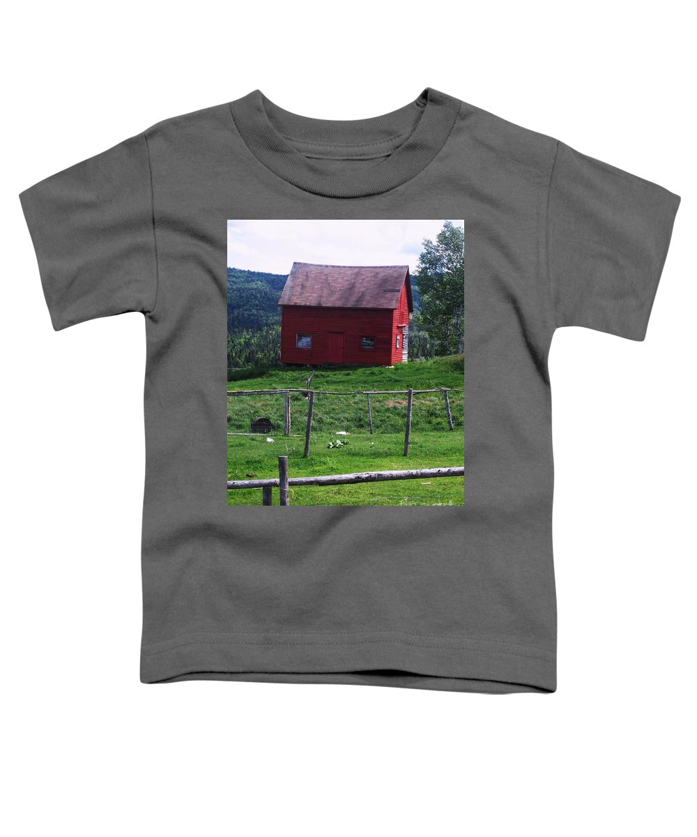 Photograph Newfoundland Jackson Cove Boat Grass Toddler T-Shirt featuring the photograph Jackson's Cove by Seon-Jeong Kim