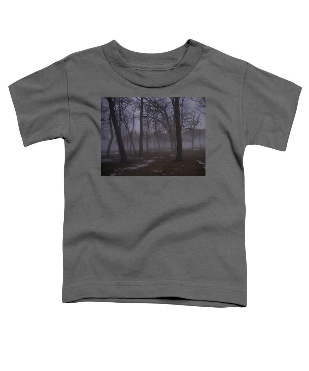 January Toddler T-Shirt featuring the photograph January Fog 2 by Anita Burgermeister