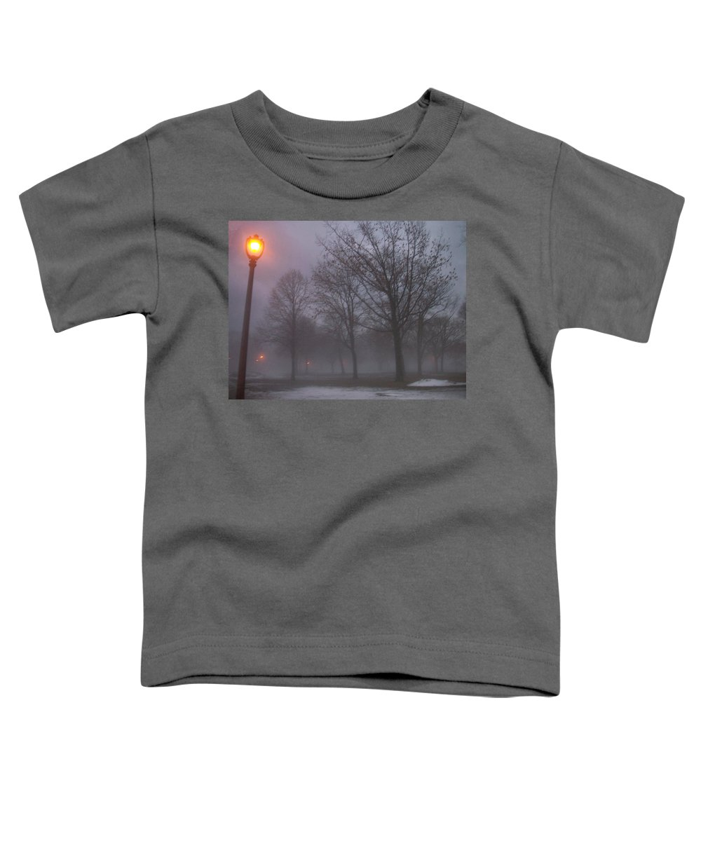 January Toddler T-Shirt featuring the photograph January Fog 3 by Anita Burgermeister