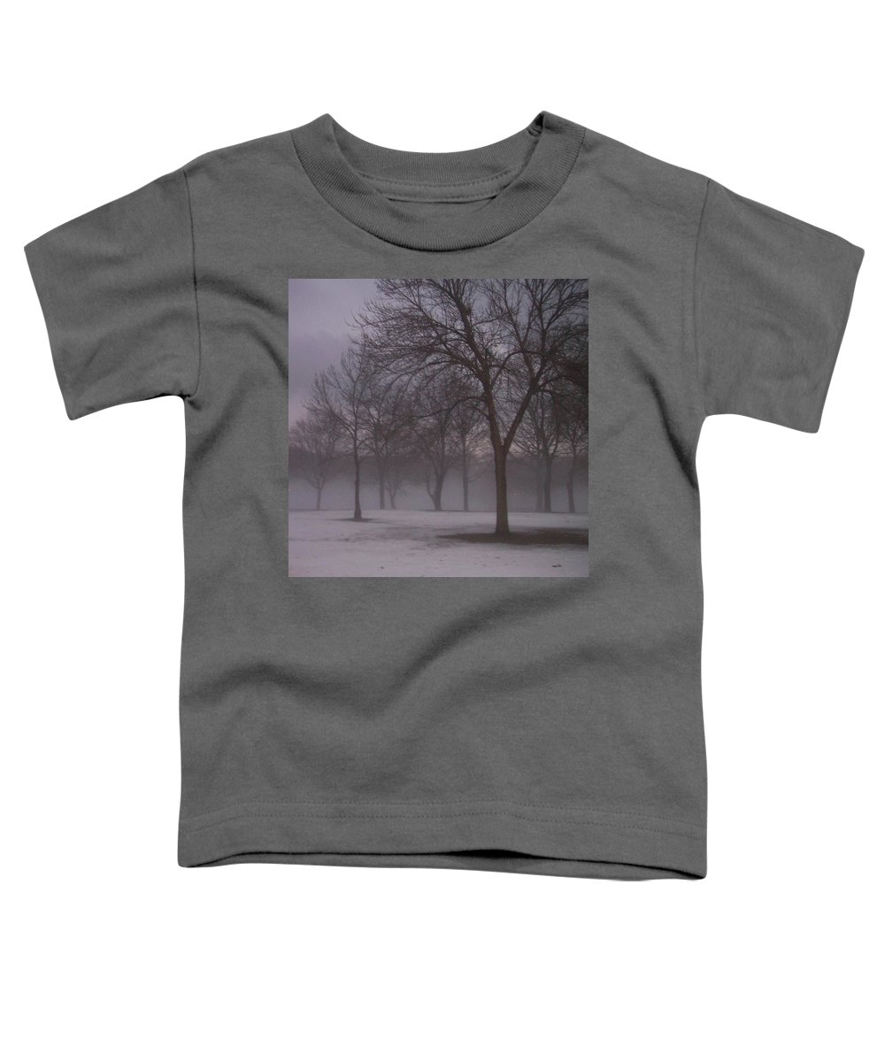 January Toddler T-Shirt featuring the photograph January Fog 4 by Anita Burgermeister