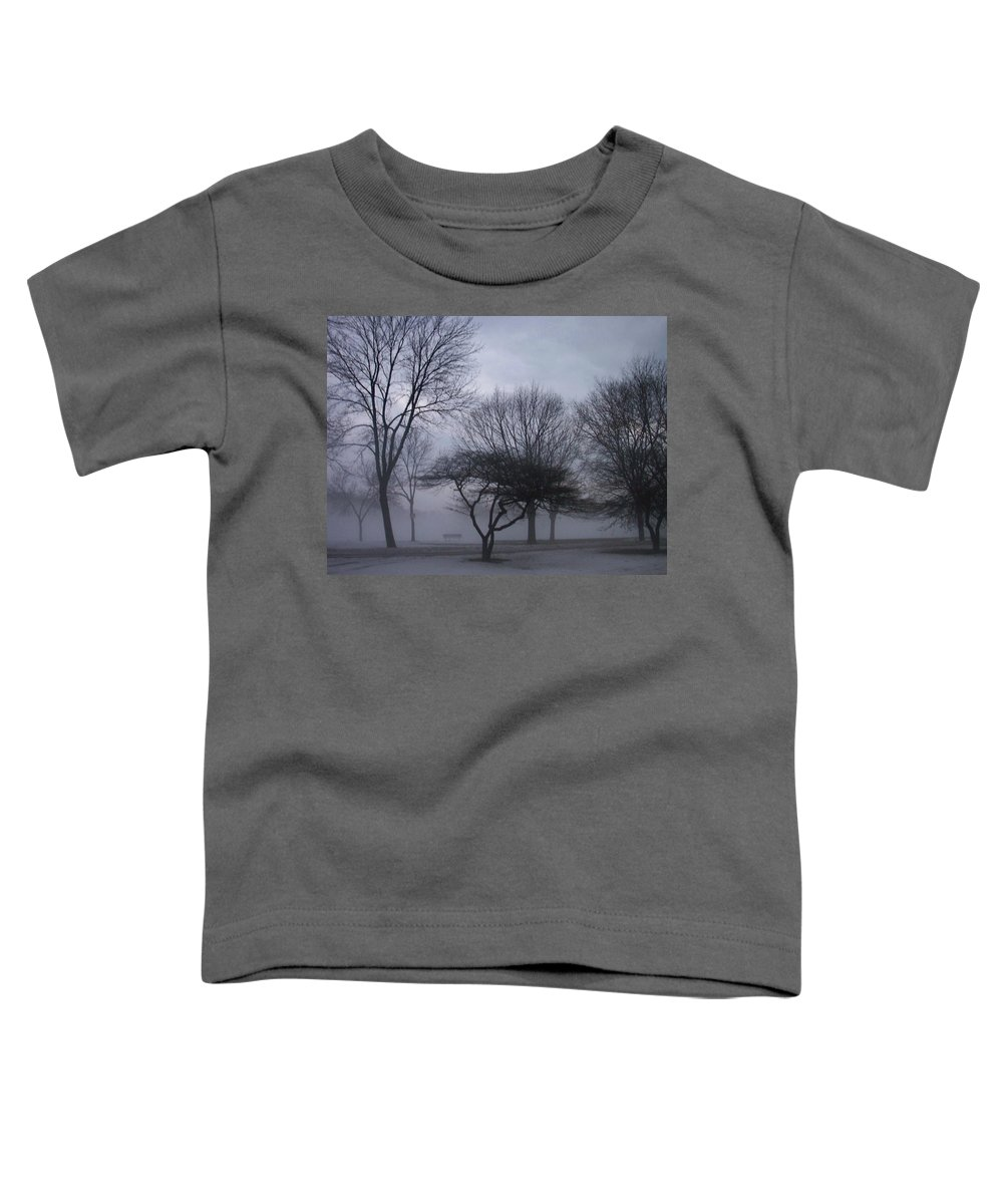 January Toddler T-Shirt featuring the photograph January Fog 6 by Anita Burgermeister