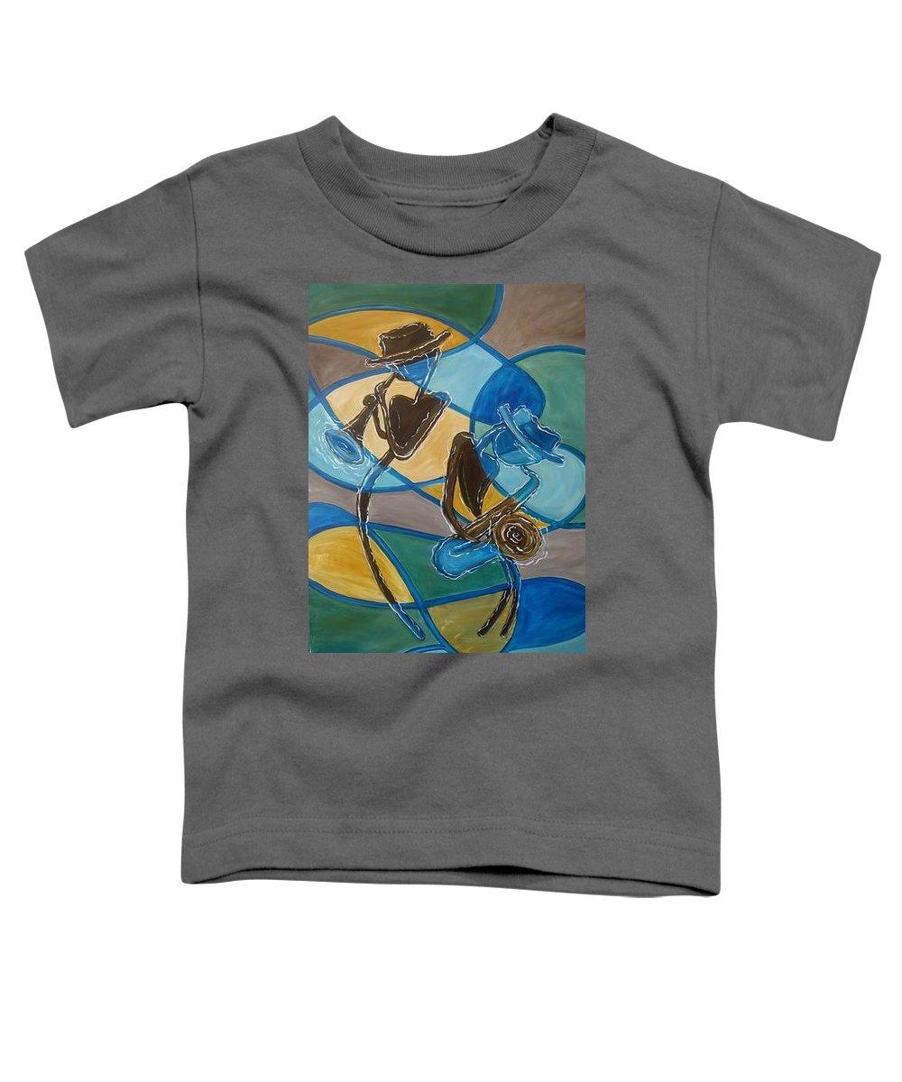Jazz Toddler T-Shirt featuring the painting Jazz Raz by Regina Walsh