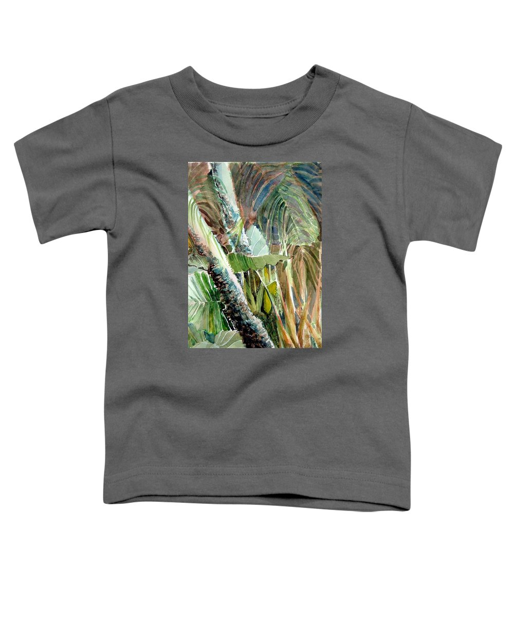 Palm Tree Toddler T-Shirt featuring the painting Jungle Light by Mindy Newman