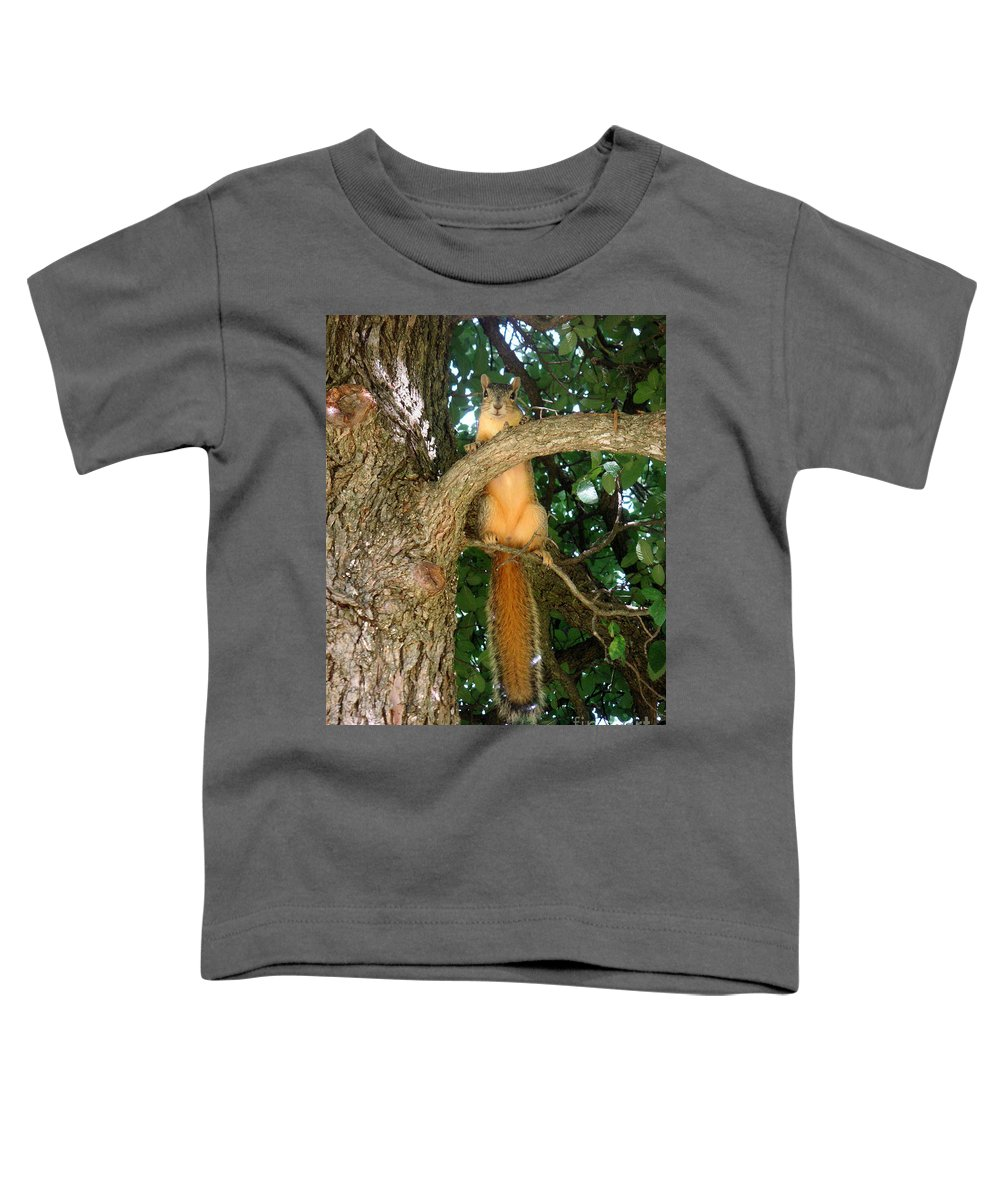 Nature Toddler T-Shirt featuring the photograph Just Hanging Around by Lucyna A M Green