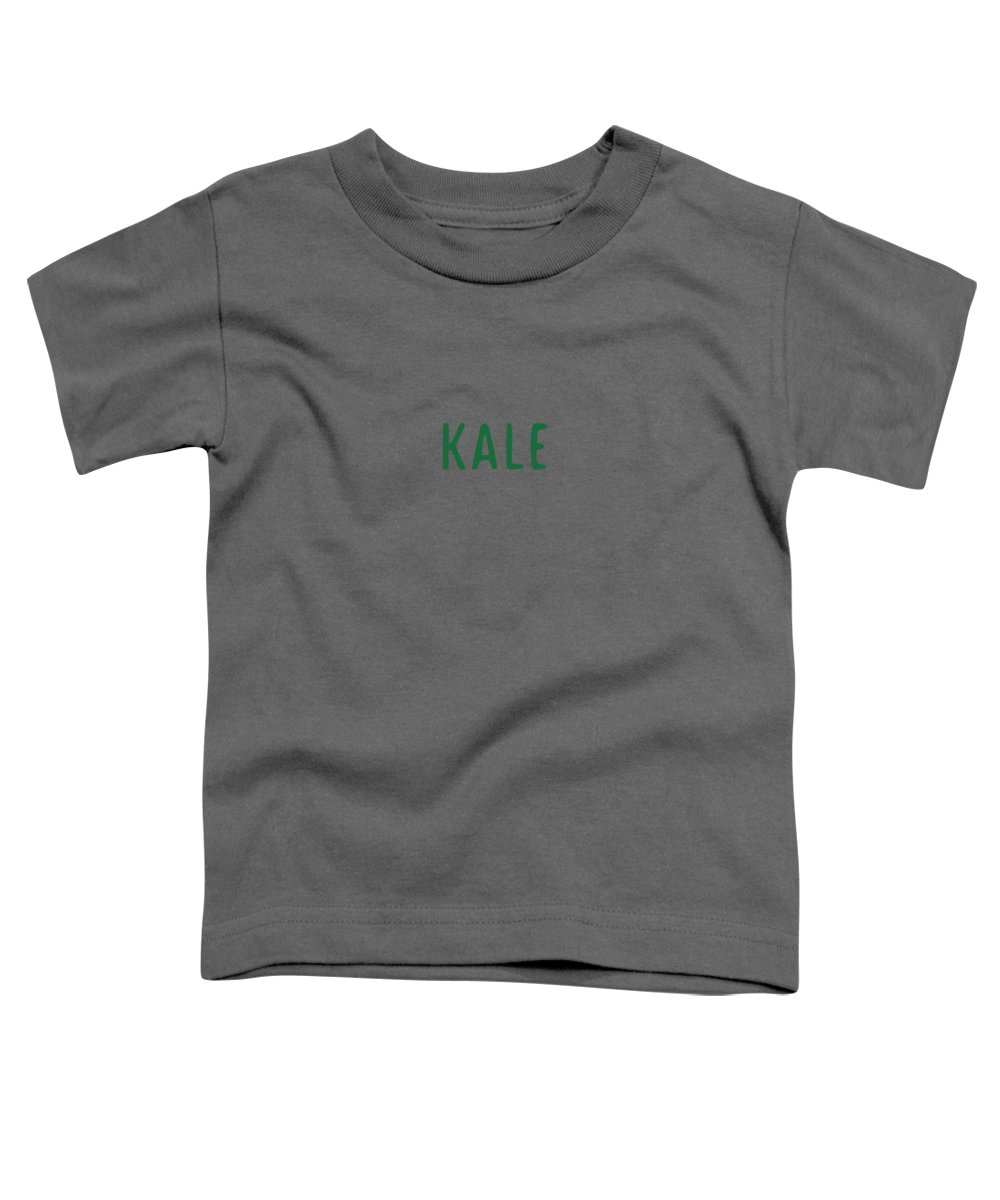 Text Toddler T-Shirt featuring the digital art Kale by Cortney Herron