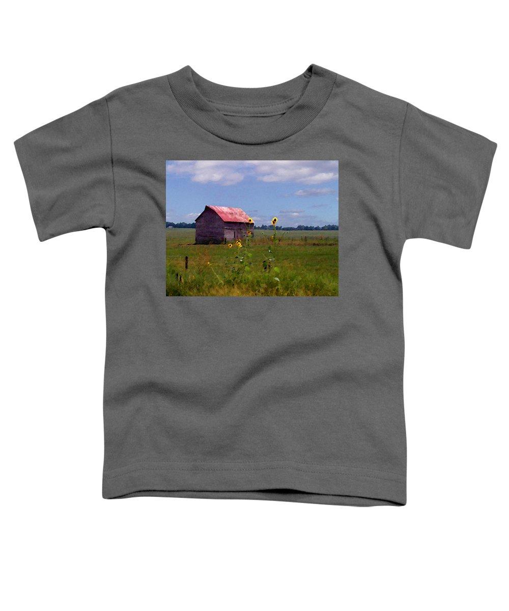Lanscape Toddler T-Shirt featuring the photograph Kansas Landscape by Steve Karol