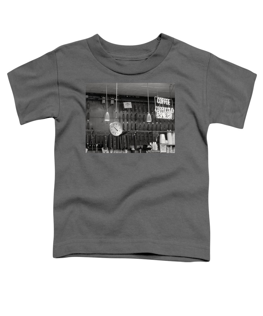 Deli Toddler T-Shirt featuring the photograph Katz Deli by Debbi Granruth