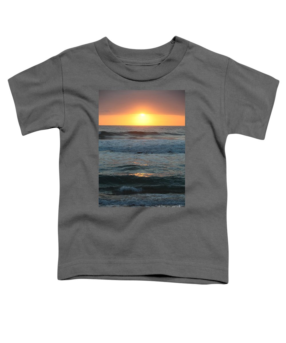 Kauai Toddler T-Shirt featuring the photograph Kauai Sunrise by Nadine Rippelmeyer